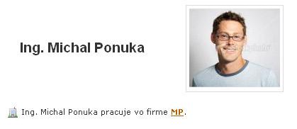 Fotografia obchodníka v jeho profile